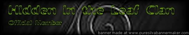 Hidden in the leaf Clan Banner10