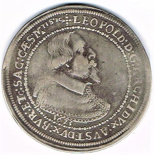 72. Taler (60 kreutzer) 1623, à l'effigie et armorial de l'archiduc Léopold V (1620 - 1632) Ensisheim   Ccf28010