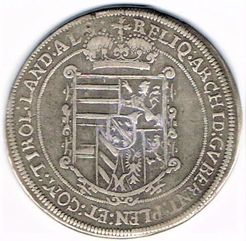 72. Taler (60 kreutzer) 1623, à l'effigie et armorial de l'archiduc Léopold V (1620 - 1632) Ensisheim   Ccf28011