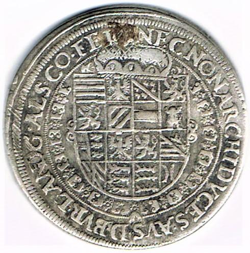 Taler (60 kreuzer) non daté, à l'effigie et armorial de l'empereur Rodolphe II - Ensisheim Ccf28013
