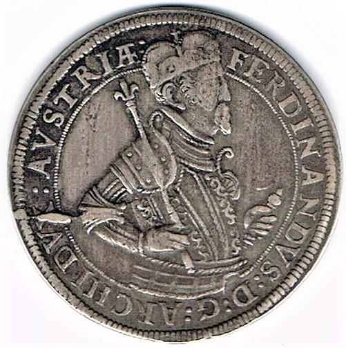 64. Taler (60 Kreuzer) sans date, à l'effigie et armorial de l'empereur Ferdinand II (1619-1637), Ensisheim   Ccf28014