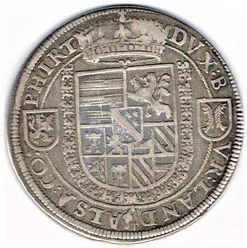 64. Taler (60 Kreuzer) sans date, à l'effigie et armorial de l'empereur Ferdinand II (1619-1637), Ensisheim   Ccf28015