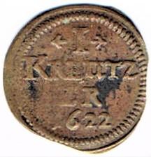 I Kreutzer 1622, municipalité de Wissembourg Ccf29012
