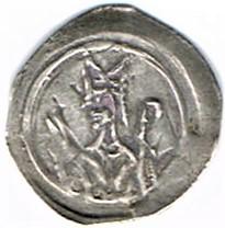 Denier (Pfennig) de l'Abbaye de Wissembourg, type au portail et à la couronne Ccf29016