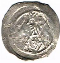 Denier (Pfennig) de l'Abbaye de Wissembourg, type au portail et à la couronne Ccf29019