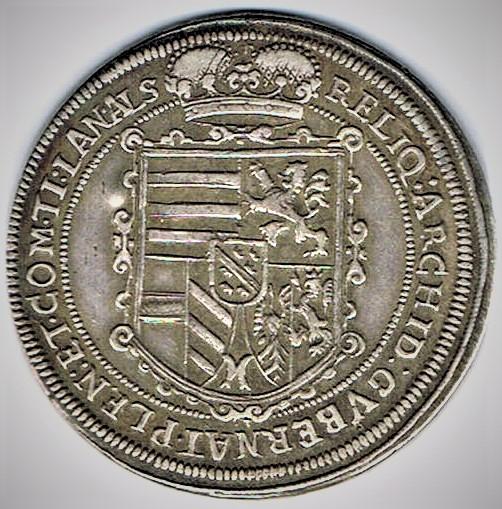 73. Taler (60 kreutzer) 1624, à l'effigie et armorial de l'archiduc Léopold V (1620 - 1632) Ensisheim Ensish11