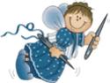 Tricot : tongs pour bébé _fee_a11