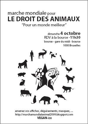 Marche mondiale pour le droit des animaux Animal11