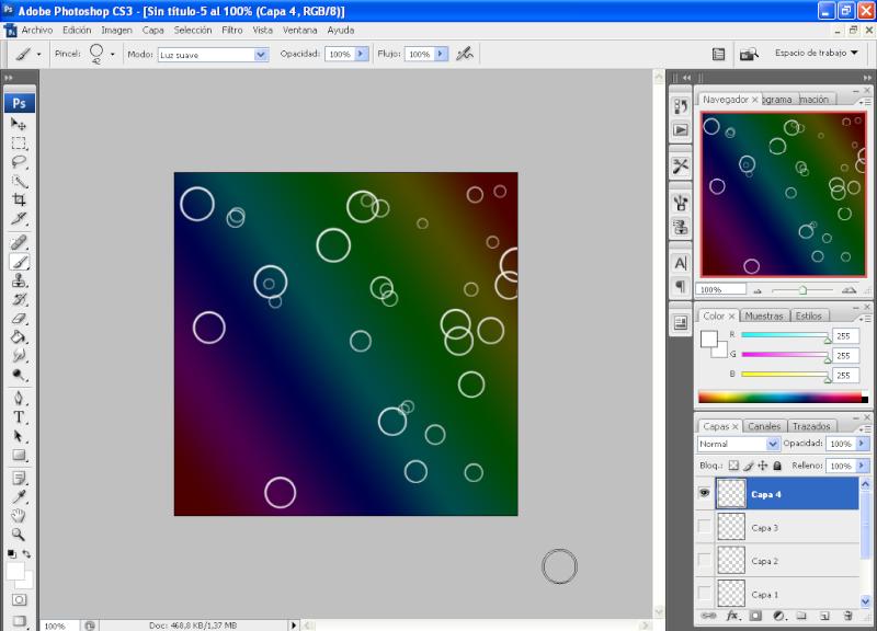 Efecto aros de colores con PHOTOSHOP 1010