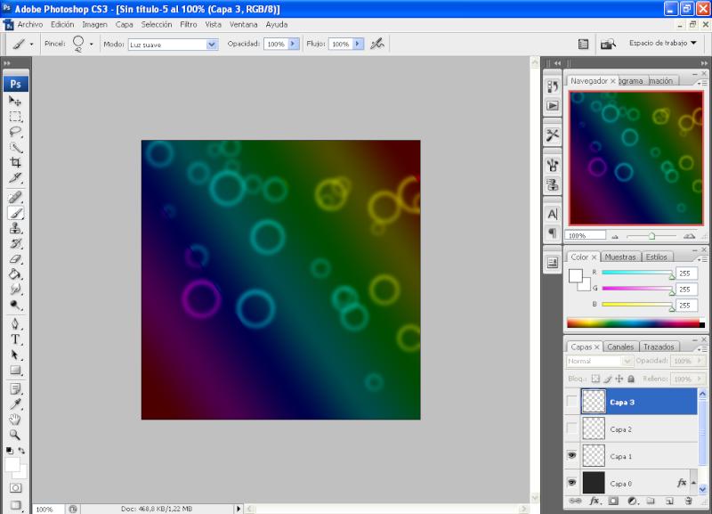 Efecto aros de colores con PHOTOSHOP 1110