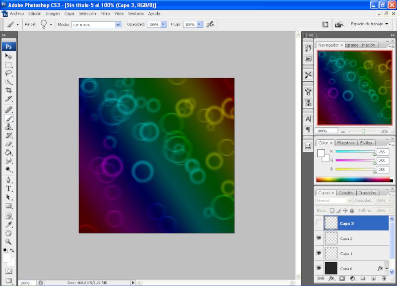 Efecto aros de colores con PHOTOSHOP 1210