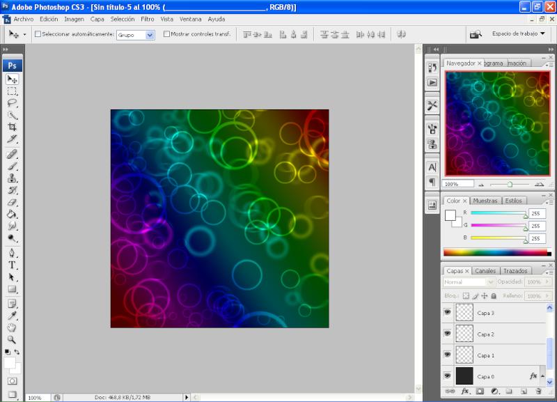 Efecto aros de colores con PHOTOSHOP 1310