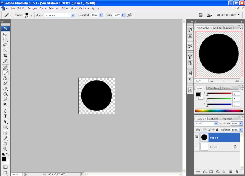 Efecto aros de colores con PHOTOSHOP 210