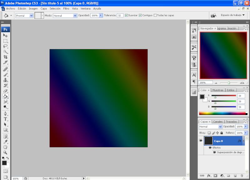 Efecto aros de colores con PHOTOSHOP 810