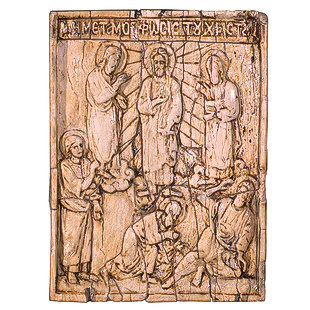 Bone Engraved with Jesus and Prophets on the Mountain 66-4-c10