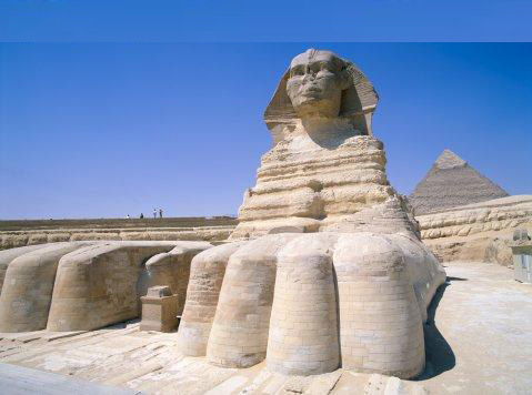 The Great Sphinx at Giza Pyram111