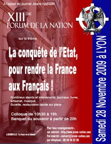 Samedi 28 novembre à Lyon : XIIIème FORUM DE LA NATION... 38388110