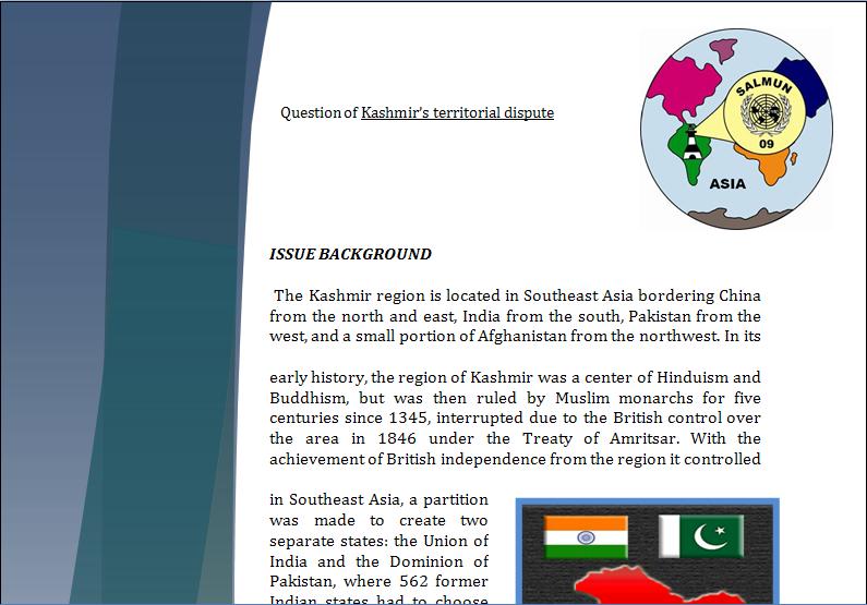 Asia Study Guide - Question of Kashmir's Territorial Dispute Kashmi22