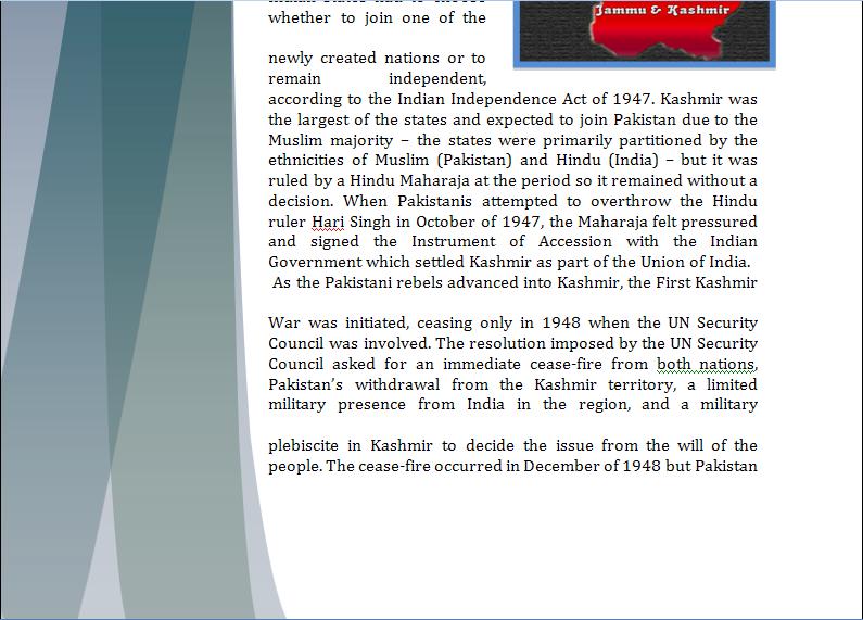 Asia Study Guide - Question of Kashmir's Territorial Dispute Kashmi23