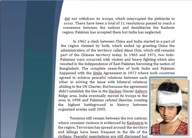 Asia Study Guide - Question of Kashmir's Territorial Dispute Kashmi24