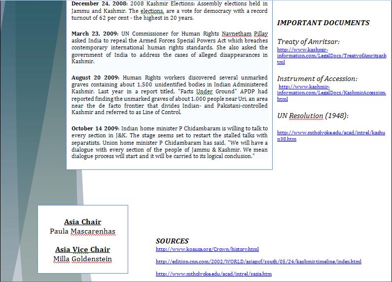 Asia Study Guide - Question of Kashmir's Territorial Dispute Kashmi29