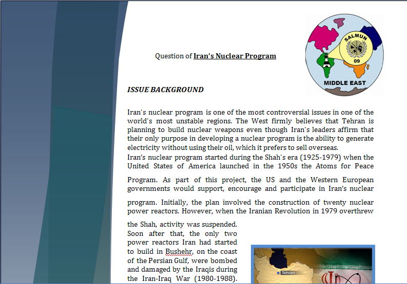 Middle East Study Guide - Question of Iranian Nuclear Program Iranpa10