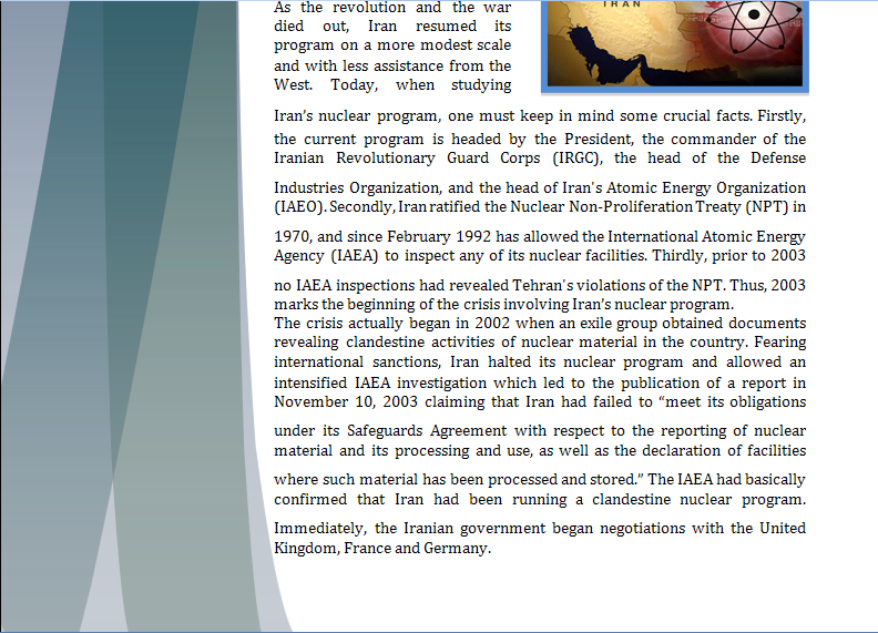 Middle East Study Guide - Question of Iranian Nuclear Program Iranpa11
