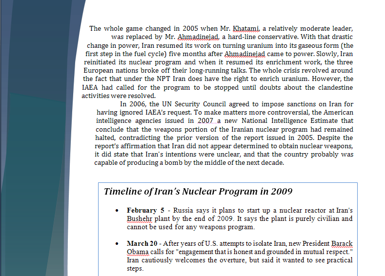 Middle East Study Guide - Question of Iranian Nuclear Program Iranpa12