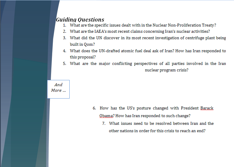 Middle East Study Guide - Question of Iranian Nuclear Program Iranpa16
