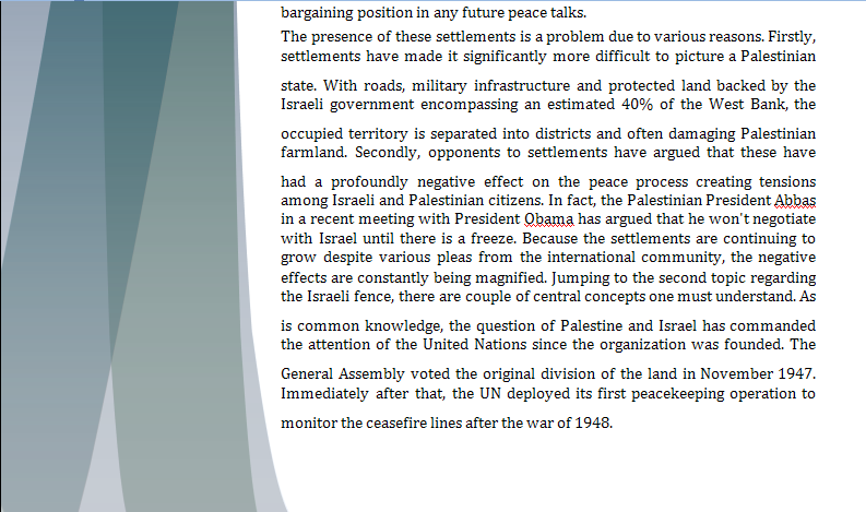 Middle East Study Guide - Question of Israeli Illegal Settlements Israel11