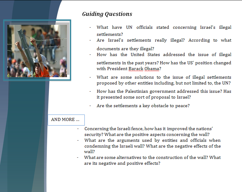 Middle East Study Guide - Question of Israeli Illegal Settlements Israel14