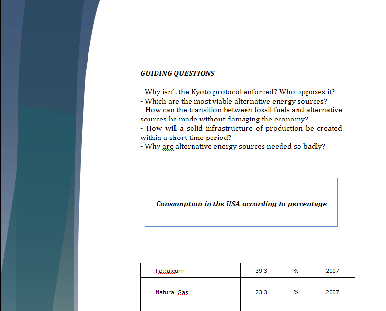 Europe Study Guide - Question of Alternative Energies in Europe Energy14