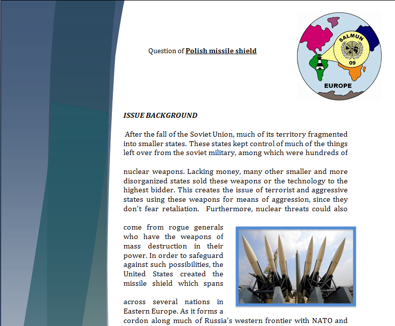 Europe Study Guide - Question of Polish Missile Shield Missil10