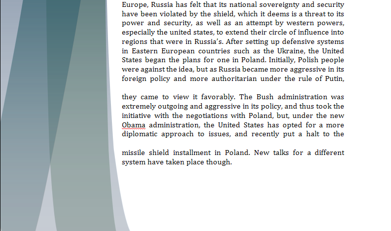 Europe Study Guide - Question of Polish Missile Shield Missil11