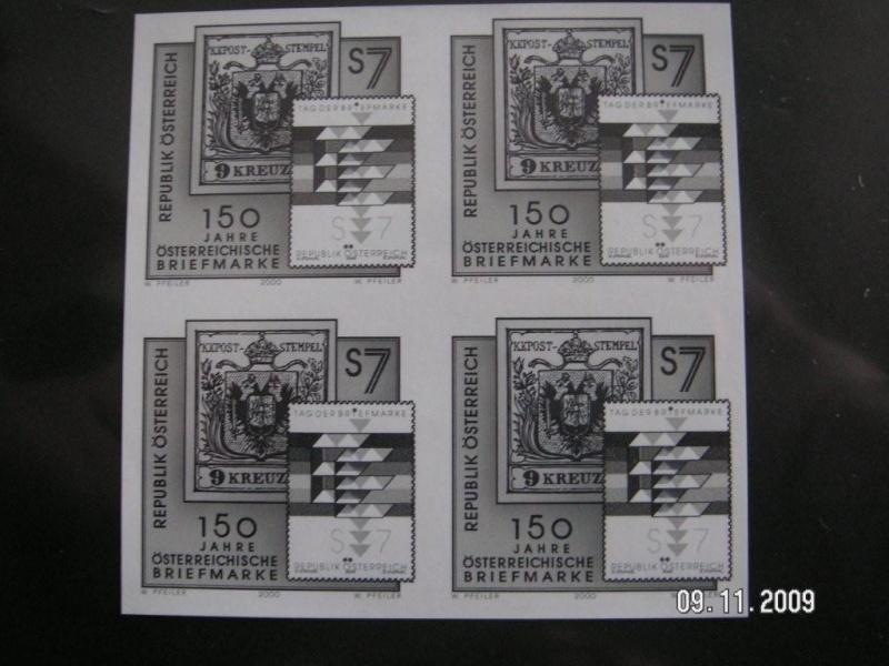 150 Jahre öst. Briefmarke 4er Block mit Buch der Staatsdruckerei Pict0013