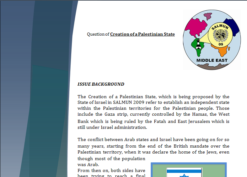Middle East Study Guide - Question of Creation of a Palestinian State Palsta10