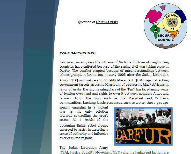 Security Council Study Guide - Question of Darfur Crisis Darfur10