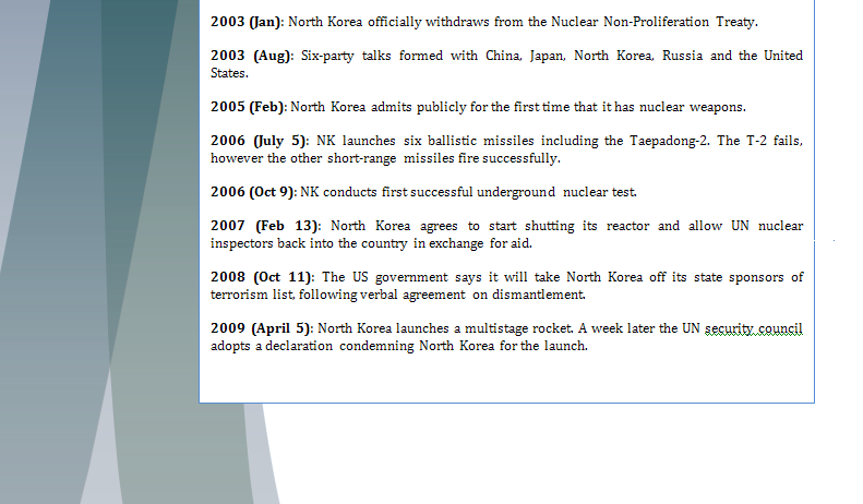 Study Guide Security Council - Question of North Korea's Nuclear Program Northk13
