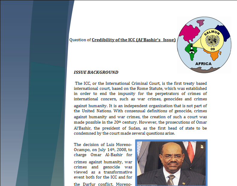Africa Study Guide - Question of Credibility of ICC (Al'Bashir's Issue) Iccpar10