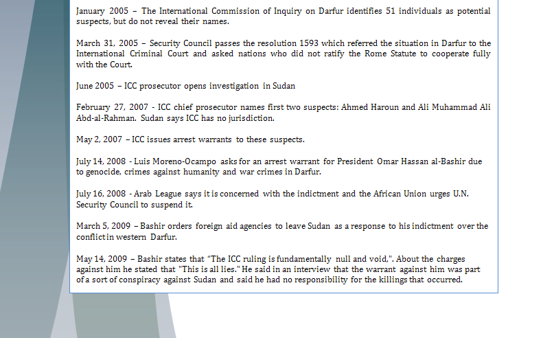 Africa Study Guide - Question of Credibility of ICC (Al'Bashir's Issue) Iccpar13