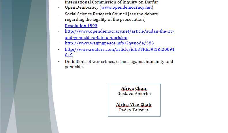 Africa Study Guide - Question of Credibility of ICC (Al'Bashir's Issue) Iccpar14
