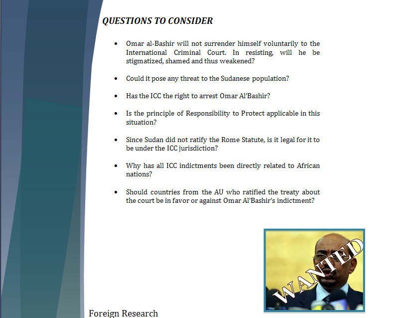 Africa Study Guide - Question of Credibility of ICC (Al'Bashir's Issue) Iccpar15