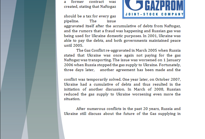 Europe Study Guide - Question of New Gas Agreement Gaspar11