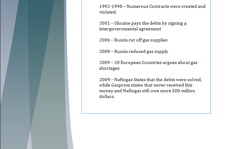 Europe Study Guide - Question of New Gas Agreement Gaspar13
