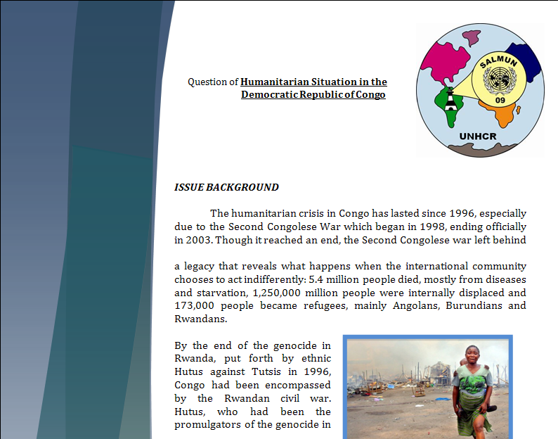 UNHCR Study Guide - Question of Congo's Humanitarian Crisis Congop10