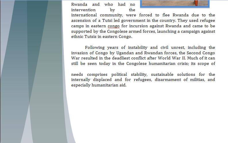 UNHCR Study Guide - Question of Congo's Humanitarian Crisis Congop11