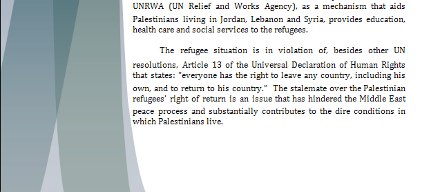 UNHCR Study Guide - The Palestinian Right of Return Rorpar11