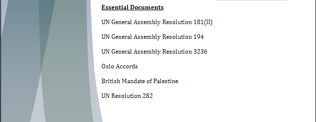 UNHCR Study Guide - The Palestinian Right of Return Rorpar13