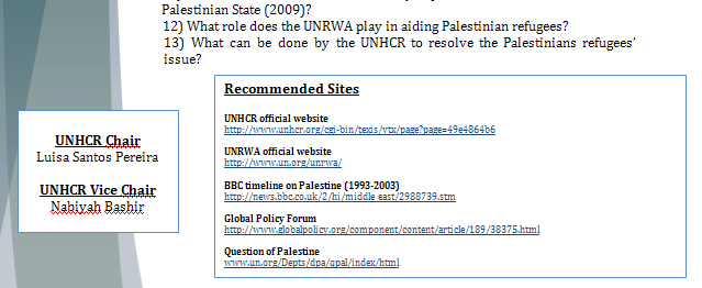 UNHCR Study Guide - The Palestinian Right of Return Rorpar17