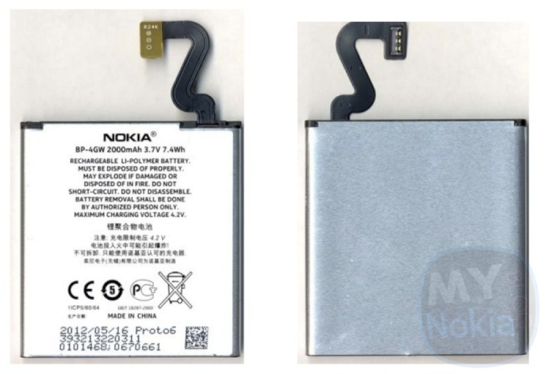 Nokia Lumia 920 Battery BP-4GW A11